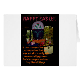 Happy Easter Love Faith and Hope Wishes Greeting Card
