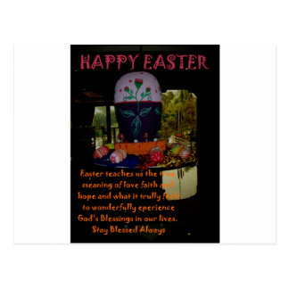 Happy Easter Love Faith and Hope Wishes Postcard