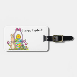 Happy Easter Luggage Tag