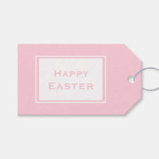 Happy Easter | Minimalistic Pastel Pink Gift Tags