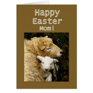 Happy Easter, Mom -- Ewe and Lamb Greeting Cards