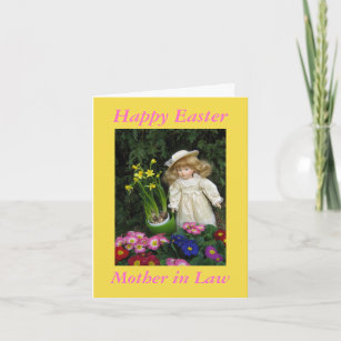 Happy easter mother gifts gift ideas zazzle uk happy easter mother in law christmas card negle Images
