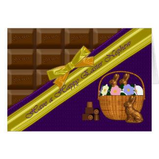 Happy Easter Nephew Chocolate Card