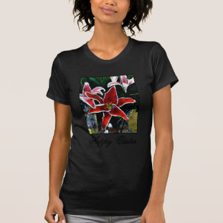 Happy Easter o Black Tiger Lily The MUSEUM Zazzle T-shirt