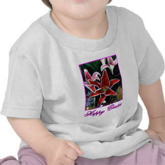 Happy Easter o Magenta Tiger Lily The MUSEUM Zazzl T-shirt