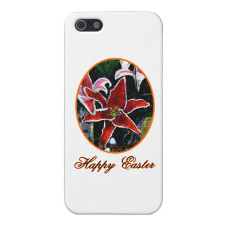 Happy Easter o Orange Tiger Lily The MUSEUM Zazzle Cover For iPhone 5/5S