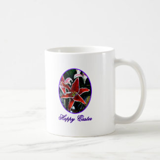 Happy Easter o Purple Tiger Lily The MUSEUM Zazzle Mugs