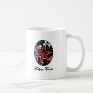 Happy Easter o Silver Tiger Lily The MUSEUM Zazzle Mug