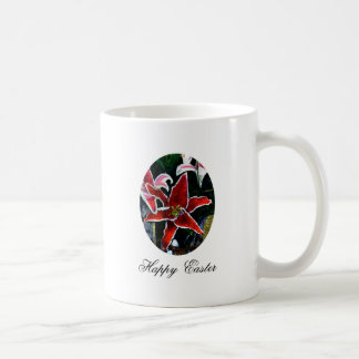 Happy Easter o White Tiger Lily The MUSEUM Zazzle Mug
