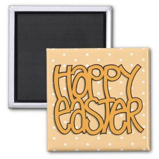 Happy Easter orange dot Magnet