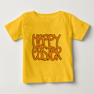 Happy Easter orange Infant Baby T-Shirt