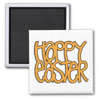 Happy Easter orange Magnet