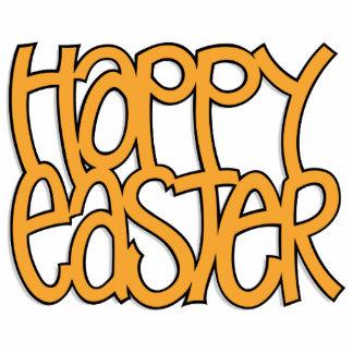 Happy Easter orange Sculpture Photo Cutout