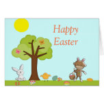 Happy Easter Outdoor Celebration Greeting Card