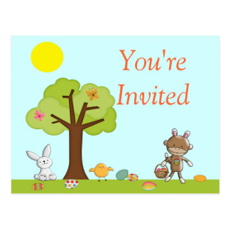Happy Easter Outdoor Celebration Postcard