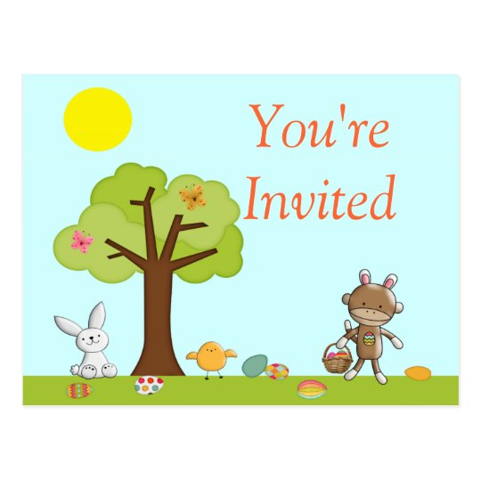 Happy Easter Outdoor Celebration Postcard