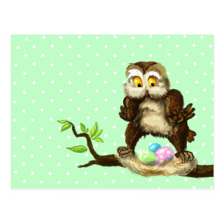 Happy Easter owl Postcard