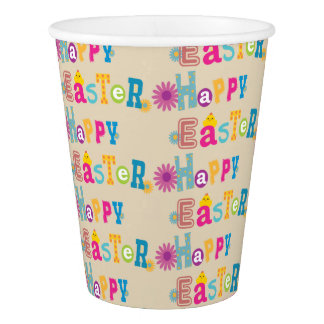 Happy Easter Party Cups