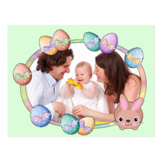 Happy Easter Personalized Family Photo Postcard
