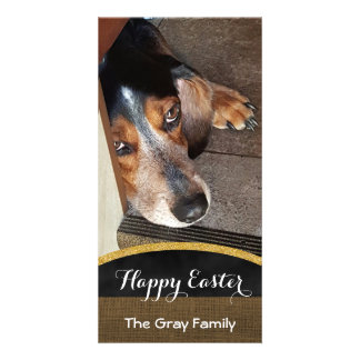 Happy Easter | Pet Photo DIY Beagle Dog Photo Card Template