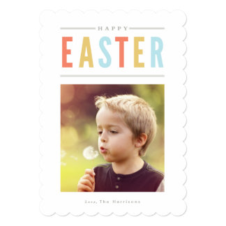 Happy Easter Photo Card Personalised 13 Cm X 18 Cm Invitation Card
