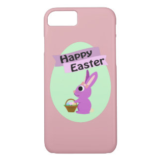Happy Easter! Pink Bunny iPhone 7 Case