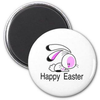 Happy Easter Pink Bunny Magnet
