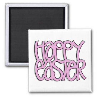 Happy Easter pink Magnet