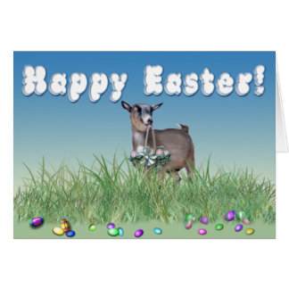Happy Easter Pygmy Goat Greeting Card
