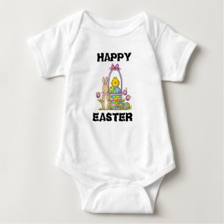 Happy Easter Rabbit Baby Jersey Bodysuit