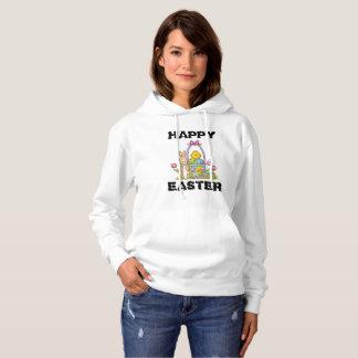 Happy Easter Rabbit Womens Hoodie
