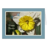 Happy Easter Religious Daffodil Card