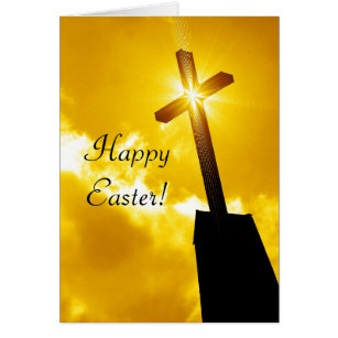 Catholic easter gifts gift ideas zazzle uk happy easter religious greeting card negle Images