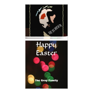 Happy Easter Religious Jesus Bible Verse Quote Personalised Photo Card