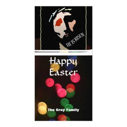 Happy Easter Religious Jesus Bible Verse Quote Photo Greeting Card