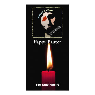 Happy Easter Religious Jesus Bible Verse Quote Photo Card Template