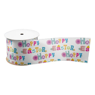 Happy Easter Ribbon Satin Ribbon