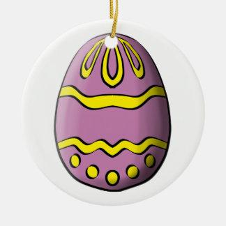 Happy Easter Round Ceramic Decoration