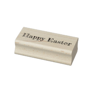 Happy easter rubber stamp