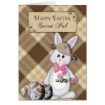 HAPPY EASTER - SECRET PAL - BUNNY GREETING CARD