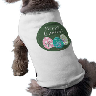 Happy Easter Sleeveless Dog Shirt