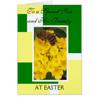 Happy Easter Son And Daughter-in-Law Card Bee