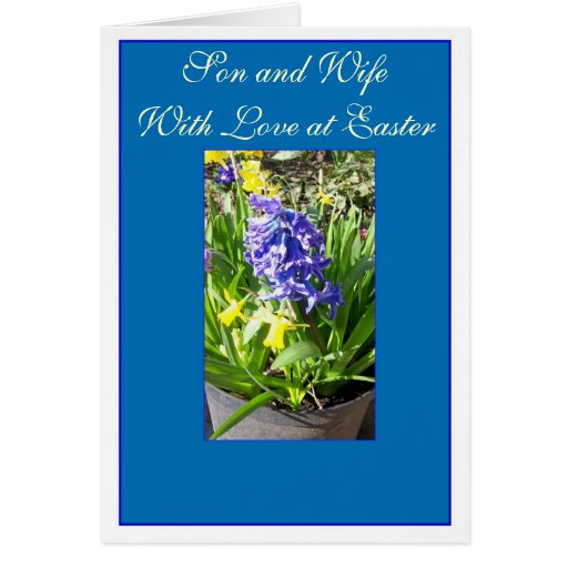 Happy Easter Son And Daughter-In-Law Card Hyacinth