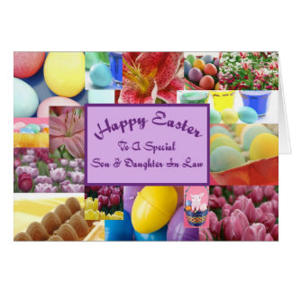 Happy Easter son & daughter in law Greeting Card