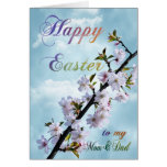 Happy Easter Spring Blossom for Mum & Dad Greeting Card