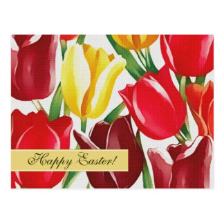 Happy Easter Spring Tulips Custom Easter Postcards