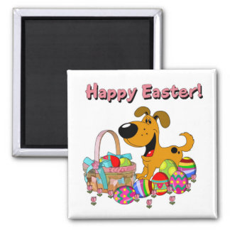 Happy Easter! Square Magnet