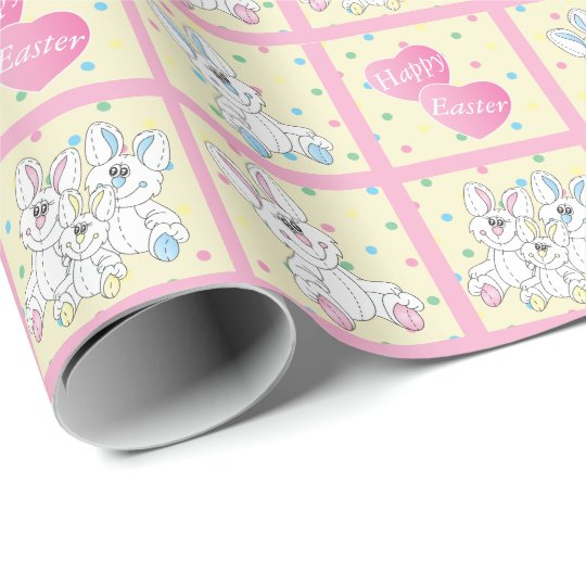 Happy Easter Stuff Bunnies Wrapping Paper