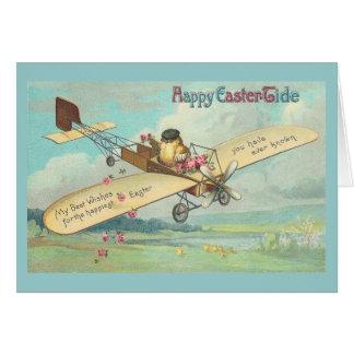 Happy Easter-Tide Fine Vintage Chick Pilot Card