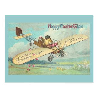 Happy Easter-Tide Fine Vintage Chick Pilot Postcard